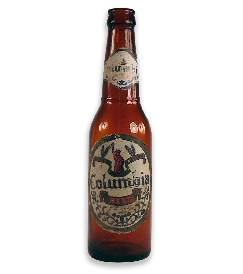 Bouteille columbia beer long neck bottle (1941)