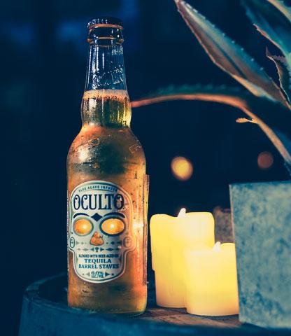 biere oculto led label etiquette