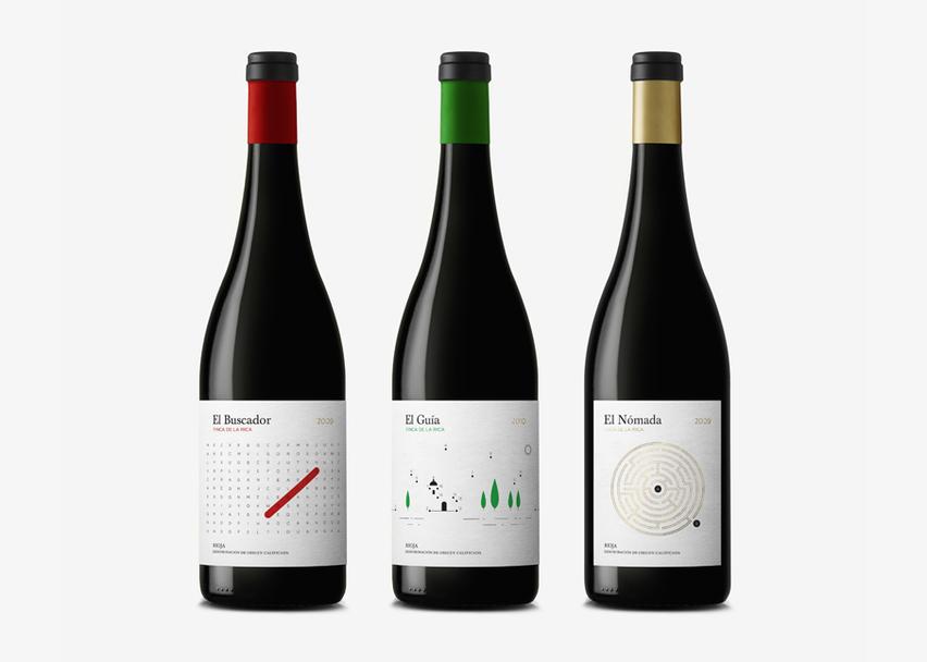 etiquette vin jeux finca de la rica