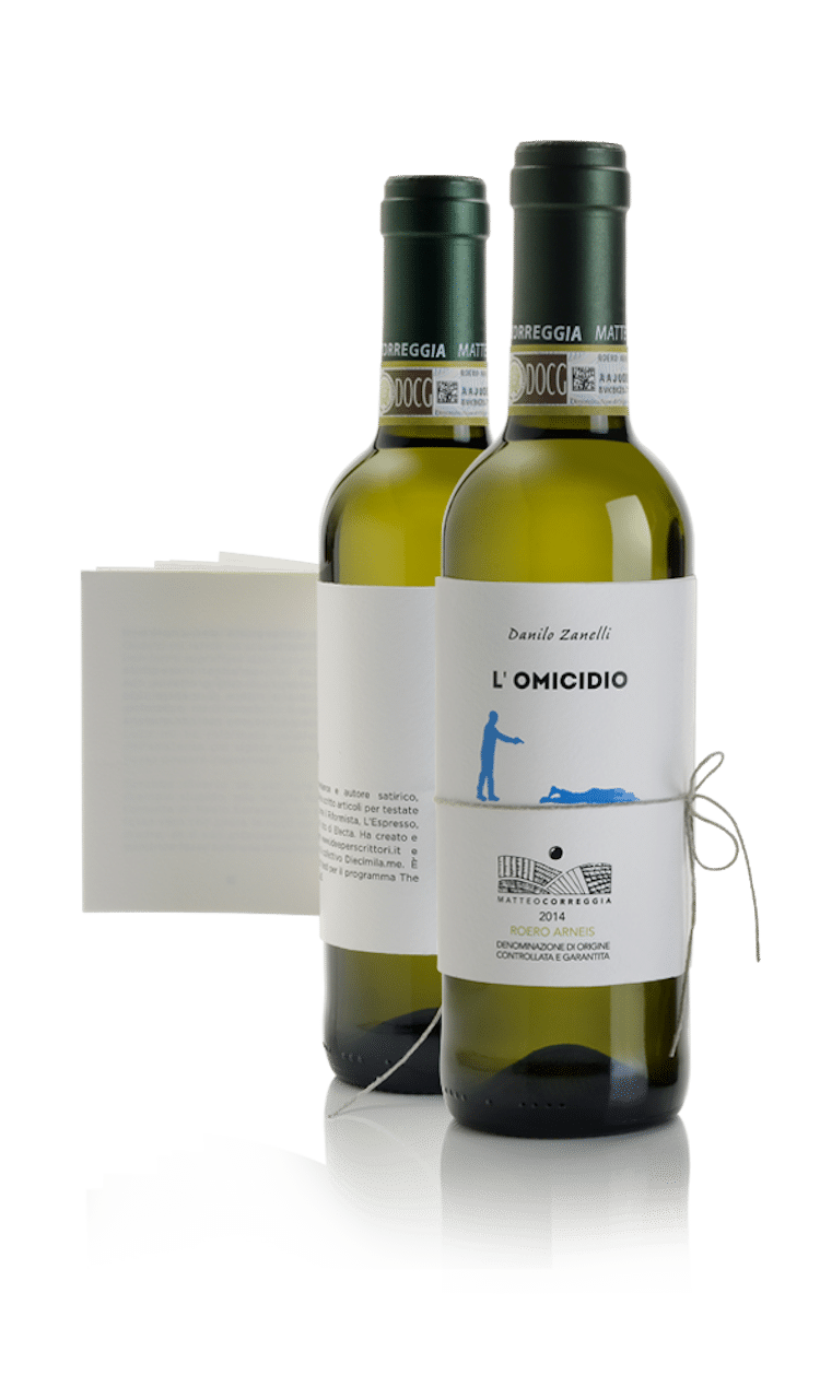 etiquette vin livre matteo correggia