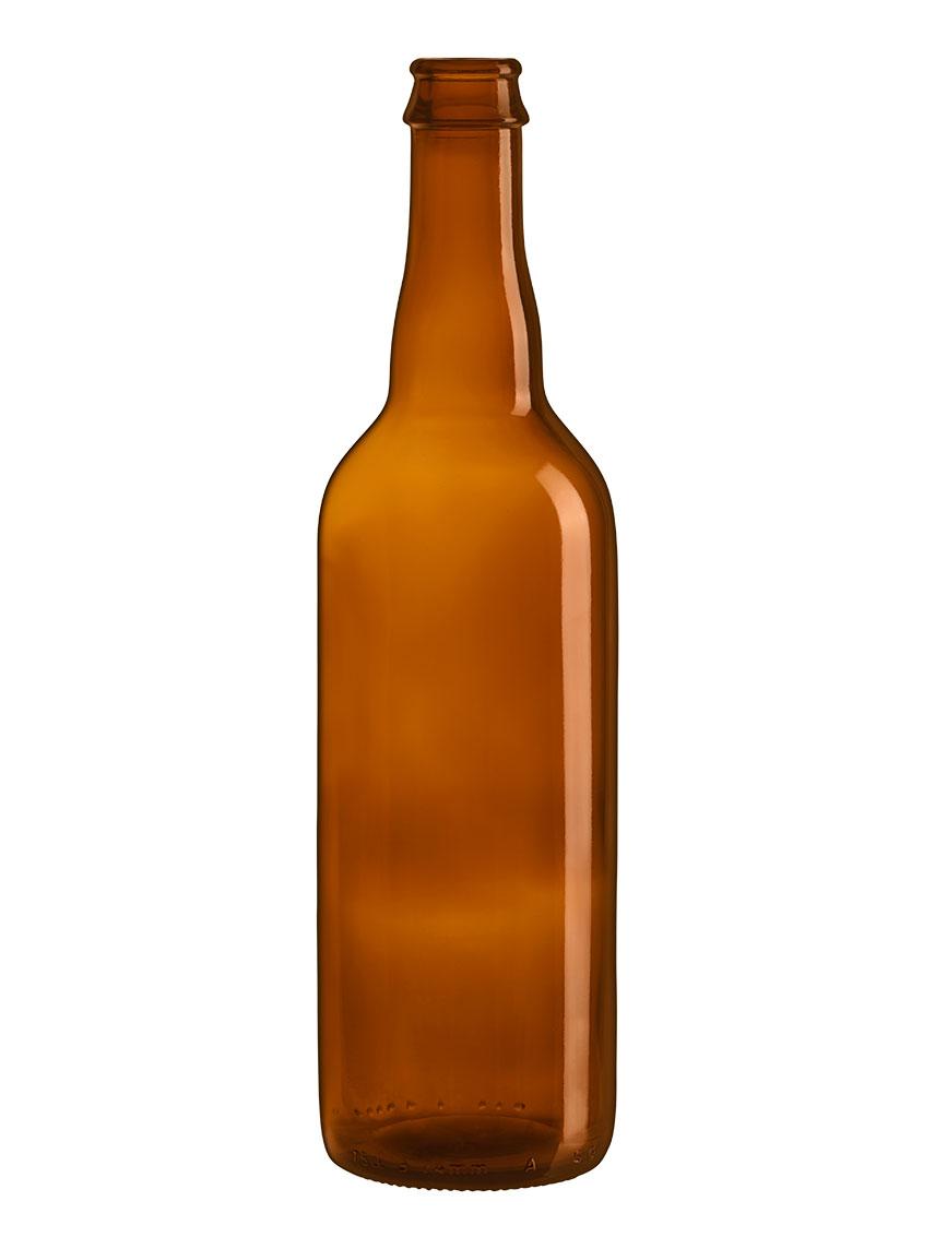 Bouteille 75 Cl verre à capsule Couronne 29 de bière