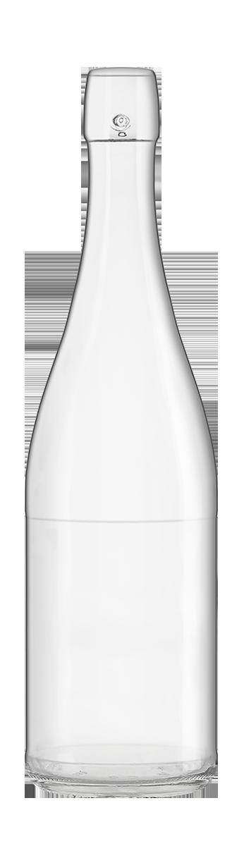 Bouteille de bière en verre Système 75 Cl Tonneau