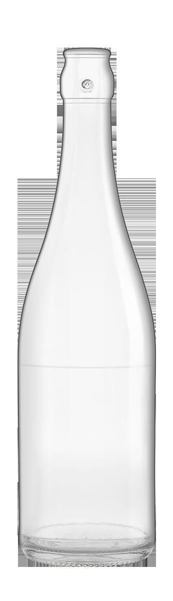 Bouteille Système 75 Cl Combiné de bière en verre vide