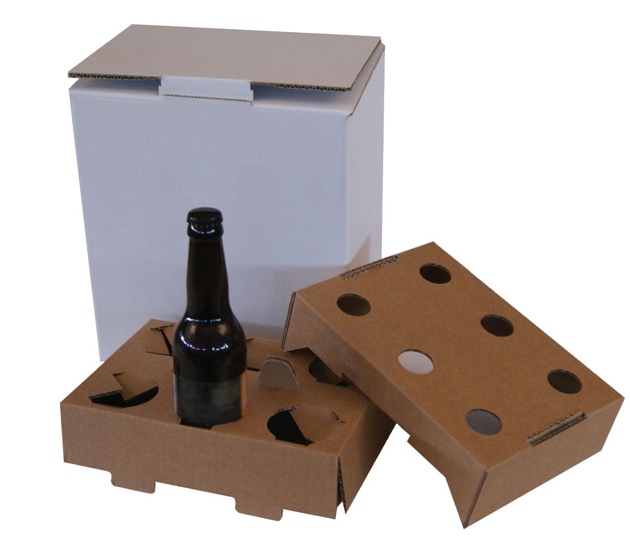 Caisse carton avec Calage pour bouteilles de bière