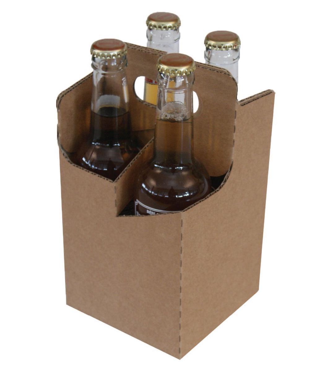 Panier carton 4 ou 6 bouteilles de bière