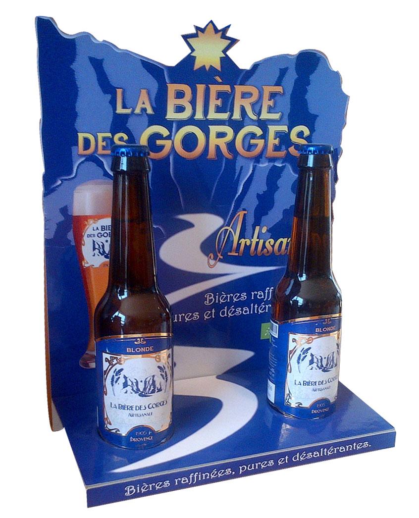 Présentoir carton de Comptoir bouteilles de bière