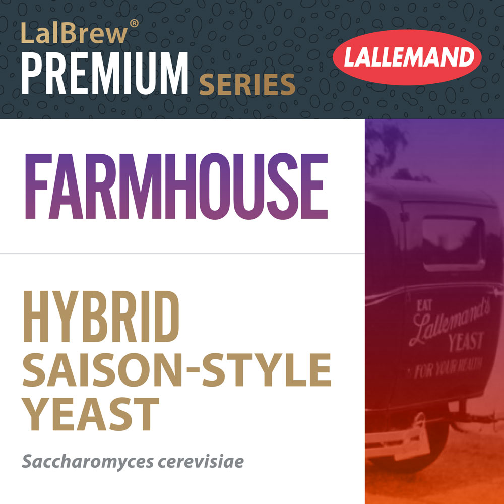 LalBrew Farmhouse™ levure hybride de pour Bière de type Saison fermière
