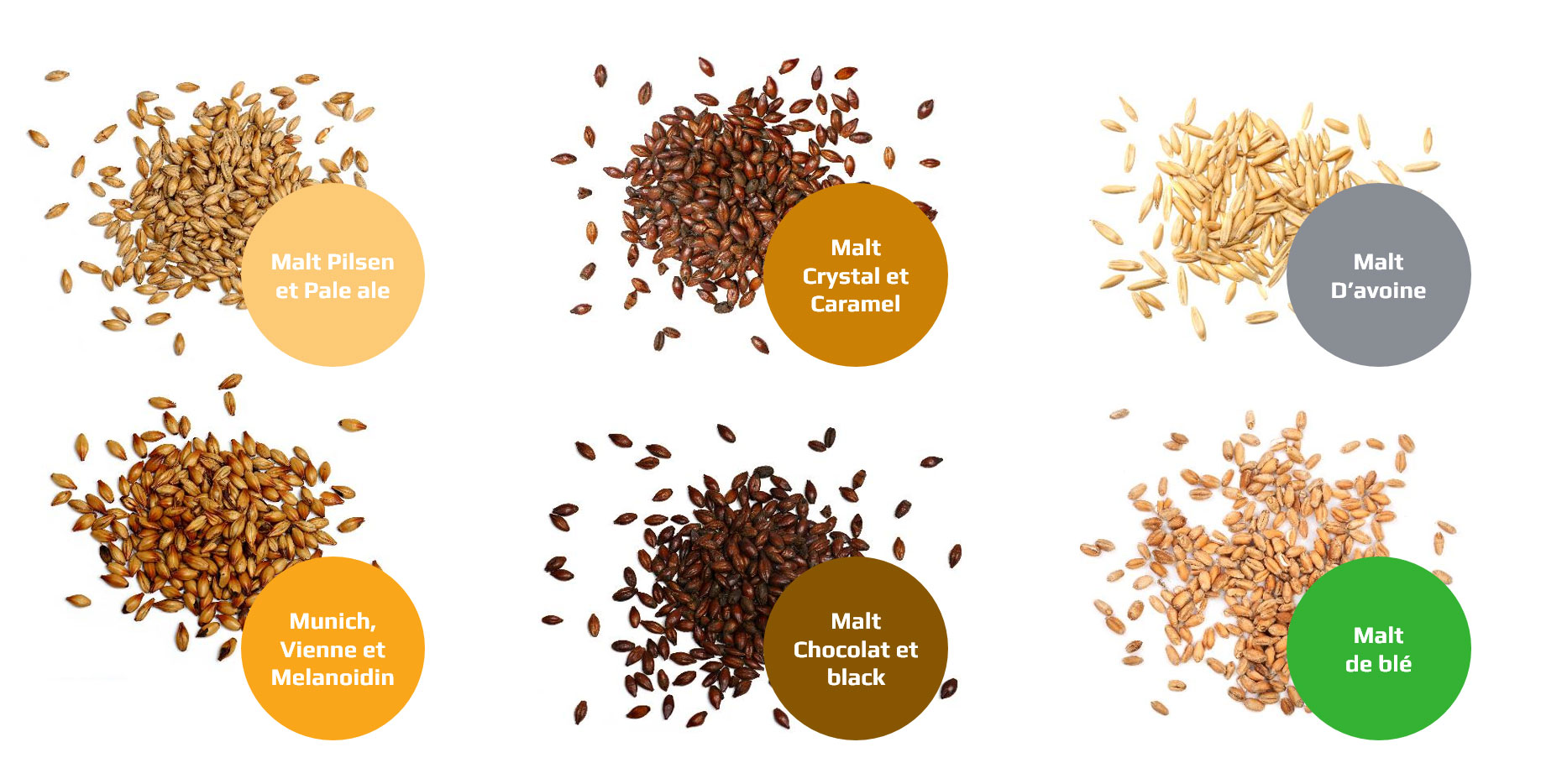 differents type de malts biere